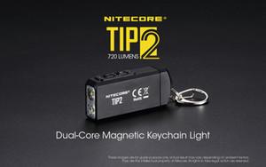 Mini-Taschenlampe NiteCore TIP2 CREE XP-G3 S3 720 Lumen USB aufladbare Schlüsselanhänger-Taschenlampe Bewegliche Laternen mit Batterie