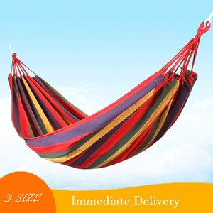 Canvas hammock Band Hammock 3 Sizes Hamac Outdoor Leisure Bed Hanging Bed Double Sleeping Canvas Swing Hammock Camping Hunting 2 Color