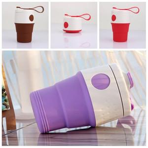 Portable diverses couleurs Pliable bouteille d'eau de haute qualité pliant en silicone tasse de café Petit et chaud en plein air utile en santé 19wyH1