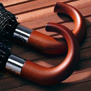 2019 новое поступление бренд мужской зонтик 10 к ветрозащитный деревянная ручка большие мужские зонты дождь качество классический бизнес Paraguas Y200324