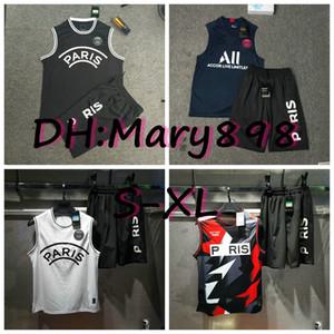 La mejor calidad 2019 2020 AJ fútbol chaleco kits de Jersey 2019 2020 París chaleco camisetas de los conjuntos 13 Estilo S M L XL