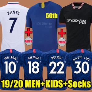 2019 Chelsea Thailand PULISIC JORGINHO Pullover da calcio 2020 HUDSON-ODOI GIROUD FABREGAS 19 20 KANTE Willian DAVID LUIZ maglia da calcio Camisetas Soccer Jerseys kids Free socks