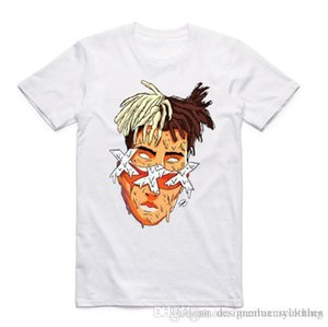 T-Shirts XXTENTACION Designer Rapper T-Shirt Kurzarm Sommer Oberteile Herren-Weiß Modal