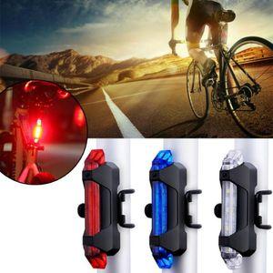 Cola bicicleta luz trasera de la bicicleta LED trasera Advertencia ciclo de la seguridad Luz Portátil USB recargable de ciclo ligero accesorios de la bici fy8040