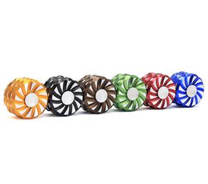 Nuovo accendino della sigaretta del giroscopio della punta delle dita di tre strati 63mm accessori di fumo della lega di alluminio della personalità creativa all'ingrosso