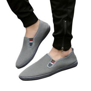 Jaycosin erkekler rahat nefes moda ayakkabılar erkekler rahat konfor bir pedal düz ayakkabılar erkek açık Günlük Ayakkabılar