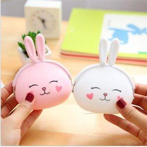 실리콘 코인 지갑 귀여운 만화 토끼 동전 지갑 여자 작은 지갑 작은 키 파티 파티 호의 어린이 키즈 선물 ST330