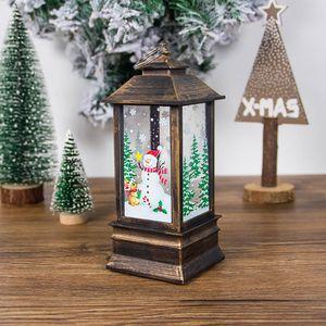 Christmas Santa Claus Snowman Decoration Lantern Xmas Tree Hanging Light Home Fireplace Festival Decorative Lamp