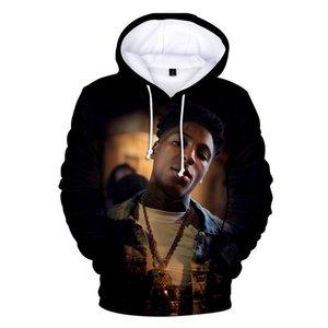 Hip Hop Moletom Streetwear YoungBoy asla 3D Hoodie Erkekler Sıcak Satış Bırak Gemi Boy Hoodies Sweatshirt Coat Broke