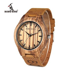 BOBO BIRD L-O30 Discount Watch Quartz Top Brand Design Crazy Horse Leather Band Men's Watches With Gift Box