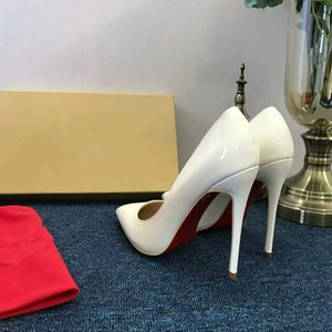 Free shipping, so Kate's 8cm 10cm 12cm red nude leather pointy-toe pump wedding shoes 003