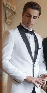 Custom-made One Button Groomsmen Shawl Lapel Groom Tuxedos Men Suits Wedding Prom Dinner Best Man Blazer(Jacket+Pants) W93