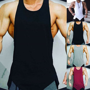Top T-shirt Bodybuilding Sport Fitness Vest Muscle Gym Hommes Débardeur sans manches