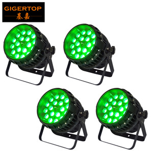 TIPTOP 4 unidades 18x12W RGBW 4IN1 Waterproof Zoom Led Light Par Profesiosnal Stage Led Lighting Outdoor Wall Washer Luz Wash feixe 2em1