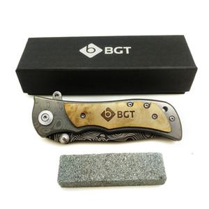 YKC Hot Camping Складной нож выживания Tactical Combat Карманные ножи Edc Открытый Охота Многофункциональные инструменты 9cr18mov лезвия Wood Handle