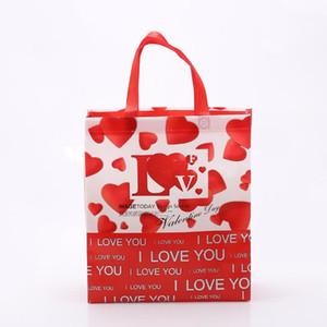 Designer-Weihnachtsklappeinkaufstüten Geschenktüten Vliesstoff mit großer Kapazität Mischfarben-Handtaschen freies Verschiffen