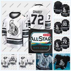 72 Thomas Chabot Ottawa Senators 2019 올스타 게임 Jersey Brady Tkachuk Mark Stone Matt Duchene Mike Hoffman Anders Nilsson Craig Anderson