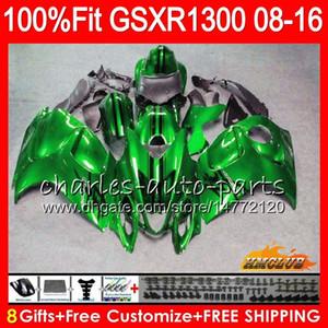 Iniezione per SUZUKI GSXR1300 Hayabusa 08 09 10 2008 2009 2010 verde lucido 25HC.19 GSXR 1300 GSXR-1300 11 12 13 2011 2012 2013 Carenatura OEM