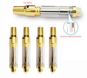 Bud V15 Vape cartuchos de cigarros e 1 ml Esvaziar cerâmicos Bobina Atomizadores 4 * orifícios de óleo 1,6 milímetros de admissão Vape Pen Carrinhos de vidro Top Airflow vaporizador