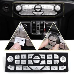 Car Center Console Button Panel Trim-Abdeckung für 2018-2019 Jeep Wrangler JL Unbegrenzte