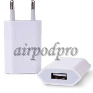 100PCS الأصل OEM الجودة 5V 1A الولايات المتحدة AC الاتحاد الأوروبي USB الجدار شاحن محول السفر للحصول على XS XR 7 زائد 6 6S 5S
