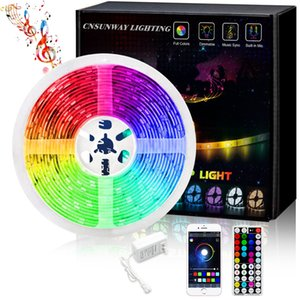 SMD 5050 Led Strips RGB Lights Kit + 44 Keys Remote Control + Bluetooth Controller+ 12V 5A Power Supply With EU AU US UK Plug