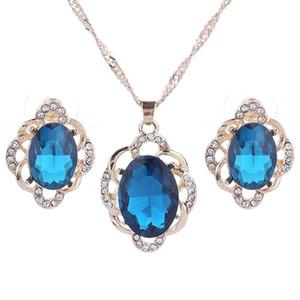 Ensemble de bijoux de mariée Pendentifs en cristal Colliers Boucles d'oreilles Ensemble de fiançailles Ensemble de bijoux de mariage