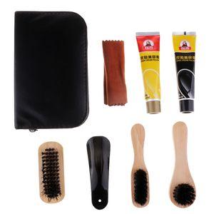Lustrascarpe Care Kit polacco spazzola di pulizia Set per Stivali Scarpe Daily Care