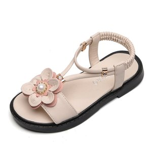Fashion 2018 Children Baby Sandals Girls Summer Shoes Sports Kids Beach Leather Sandals for Girls Flowers Princess Shoes KS437 Y200619