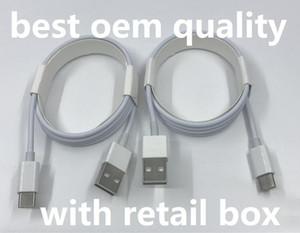 Micro USB cavo del caricatore OEM qualità 1M 3FT 2M 6FT dati di sincronizzazione del V8 Tipo C Cavo con la scatola originale di vendita al dettaglio per Samsung S7 S8 S9 Nota 9 Huawei P 8 7
