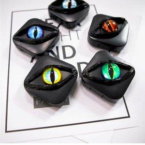 Personalidad de terror Eye Contact Lens Case Con kit portátil de viaje precioso espejo de aumento Mujeres Companion Box Ojos de la historieta Caja