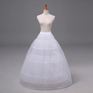 A-line Ucuz Petticoat Balo Gelin Balo Elbise Crinoline Quinceanera Renderskirt Düğün Aksesuarları Beyaz Alçak Koşu