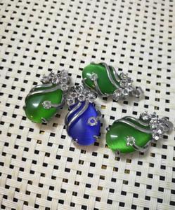 femminile ciondolo smeraldo goccia Emerald Necklace consegna gratuita V1