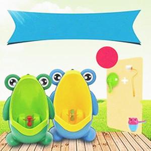 Дети PP лягушка дети стенд вертикальный писсуар настенный моча горшок ПАЗ Дети Детские мальчики писсуар продвижение мода мультфильм обучение туалет