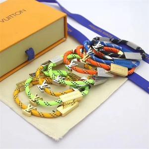 Joyería de la manera simple Hombres Mujeres pulseras Tide Marca brazalete de las mujeres del estilo de la calle principal de los brazaletes de los hombres pulsera del encanto