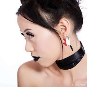 Halloween personnalisé cosplay couteaux acrylique Boucles d'oreilles Exagéré drôle Acrylique Boucles d'oreilles pour femmes Bijoux Cool cadeau de Accessaries