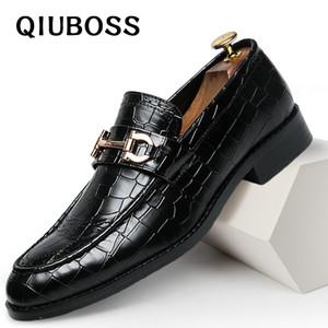 Herren Schuhe formales Kleid Schuh Sapato Sozial Masculino Leder Braun eleganter Anzug Schuhe große Größen-Dropshipping Mode