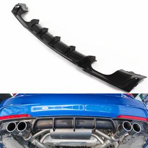 1 Pc double sides diffuser for B M W 3 series F30 F35 carbon fiber style rear bumper diffuser lip