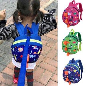 Dinossauro dos desenhos animados do bebê Cinto de segurança Mochila Criança Anti-perdida Bag Crianças Durable resistente Kid Anti Perdido Walker Strap Schoolbag