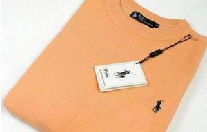 New alta qualidade POLO polo quente tamanho dos homens torcida Needle camisola de malha de algodão em torno do pescoço camisola de pulôver homem S-XXL