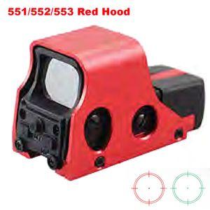 Neues Aluminium Tactical Rot Grün Absehen Rifle Holographic Rot Grün-Punkt-Anblick Brigthness Adjustable 551 552 553 Red Hood.