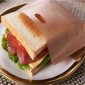 Оптовые 1000 шт. / Лот тефлоновые мешки для тостеров Многоразовые с антипригарным покрытием Запеченные тосты для хлеба для жареных бутербродов с сыром Made Easy