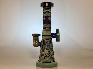 Shaman Glass Water Bong с пескоструйной обработкой и текстурированные Zoda, цвет металлического копченого стекла, ограниченные продажи