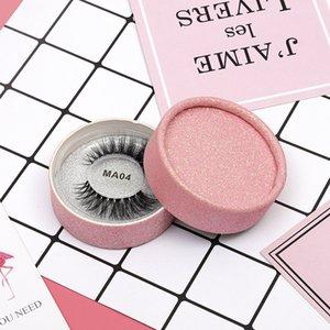 MA04 3D Faux Mink Eyelashes False Mink Eyelashes 3D Silk Protein Lashes 100% Handmade Natural Fake Eye Lashes with Pink Gift Box