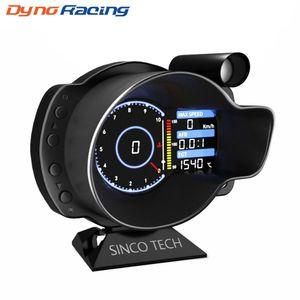 경주 OBD2 헤드 업 디스플레이 자동차 디지털 대시 보드 부스트 게이지 속도 RPM 물 기름 온도 전압 EGT AFR 자동차 미터 알람 DO916