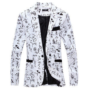 2019 Roupa Roupas masculinas Luxo Mens Blazer Jacket Cópia à moda floral extravagante Sexo Masculino Ternos Blazers