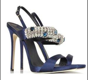 style classique vente chaud diamant d'été des sandales à talons aiguilles Lidies pompon ouvert sandales Toe High Heels Ladies sandales parti