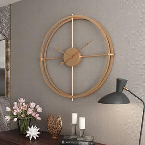 Büyük Metal Duvar Saati Modern Tasarım Salon Dekorasyon Minimalism Avrupa Big İzle Demir Duvar Saatleri Ev Dekorasyonu