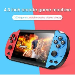 X7 Game Player For PSP Gamapad4.3-inch Game Console Nostalgic Classic Dual-Shake Game Console 8G Super Core Handheld MP5 1G+8G