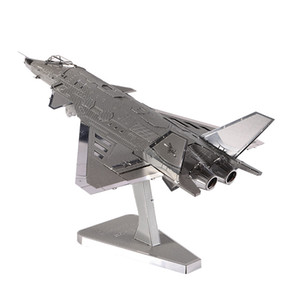Großhandel 3D Metall Puzzle Spielzeug Montage Flugzeug Modell DIY J20 JET Kämpfer Bausatz Kreative Spielwaren Für Kinder Military Modelle
